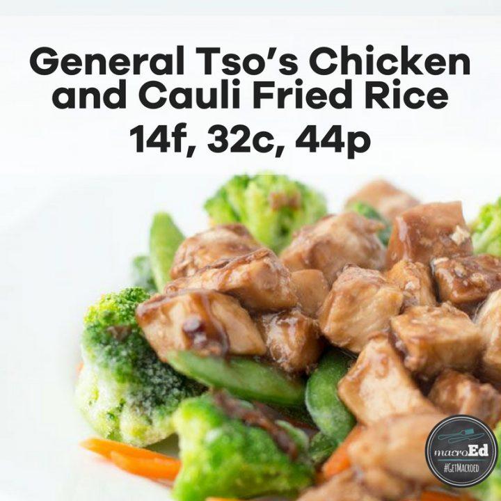 General Tso's Chicken and Cauli Fried Rice