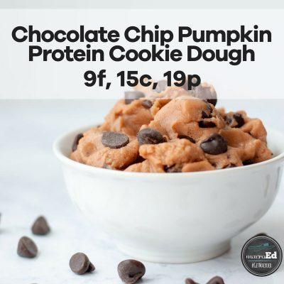 Chocolate Chip Pumpkin Protein Cookie Dough