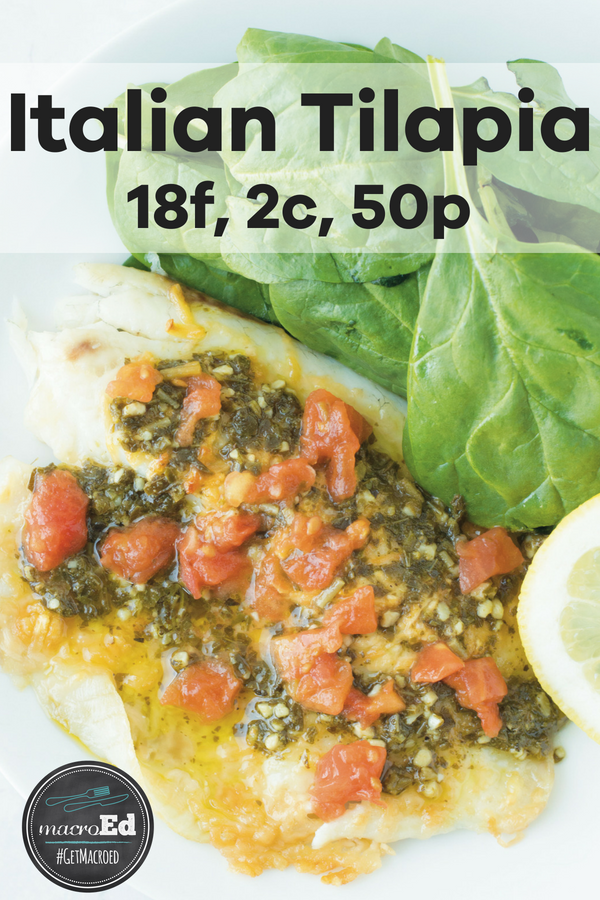 Italian Tilapia ; This Italian Tilapia recipe is a perfect (not to mention delicious) way to add more seafood into your diet. Ready in 15 minutes, this is a MUST-try for your busy schedule.
