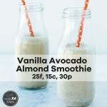 Vanilla Avocado Almond Smoothie
