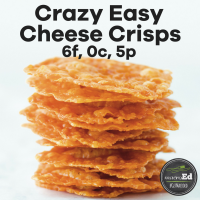 Crazy Easy Cheese Crisps
