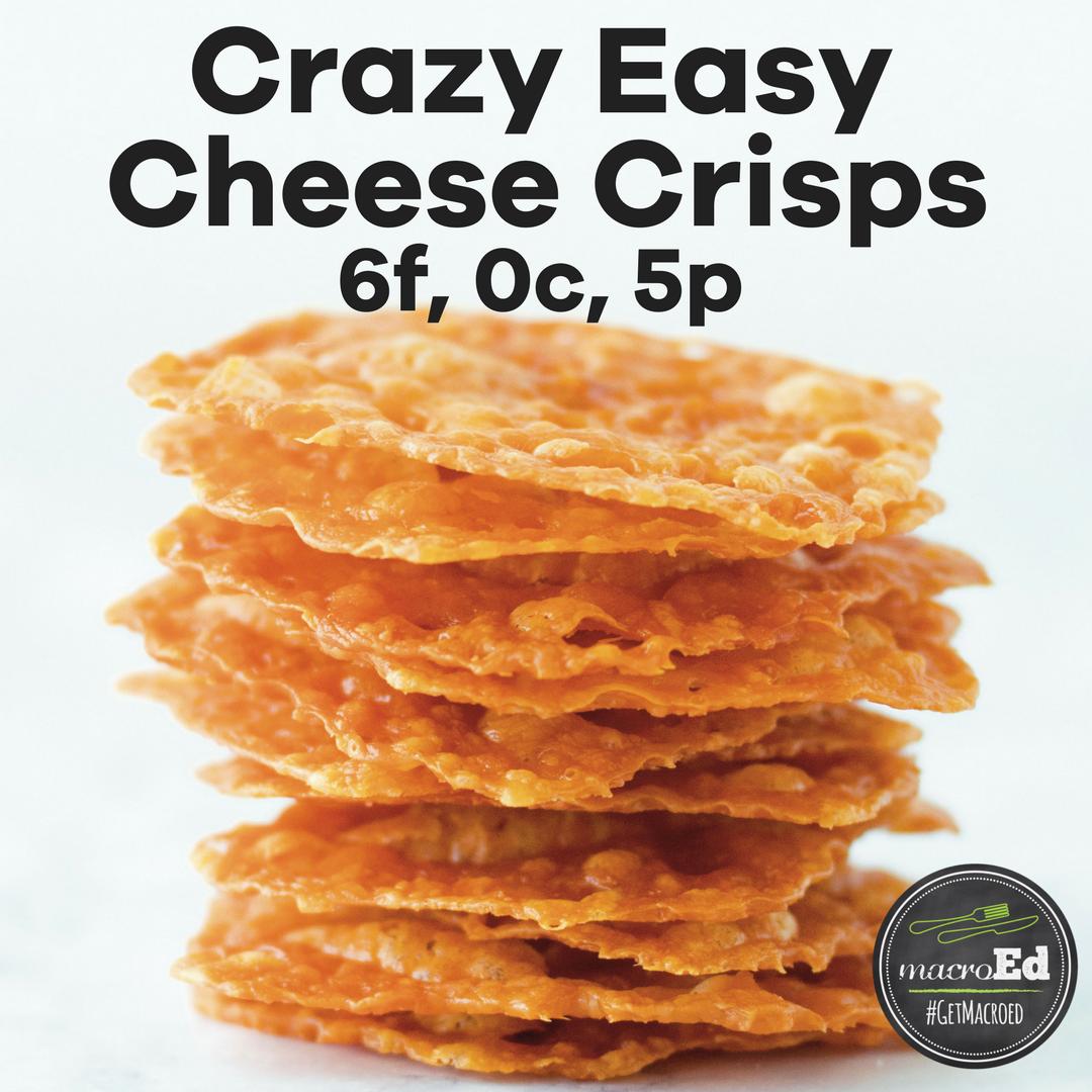 Crazy Easy Cheese Crisps
