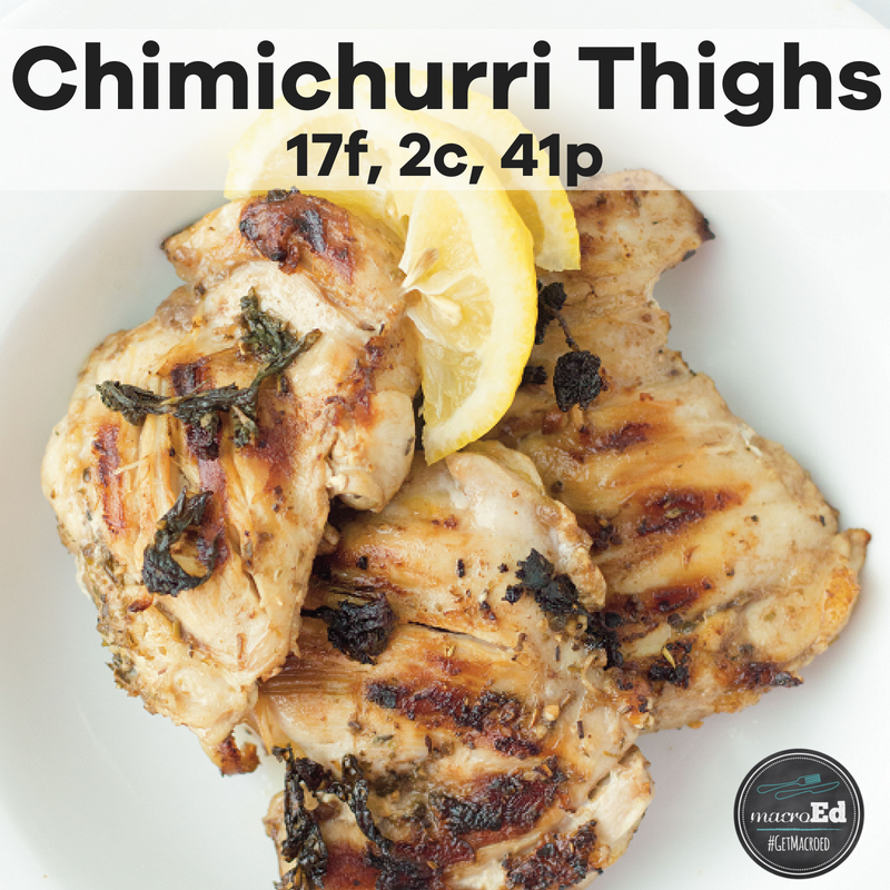 Chimichurri Thighs