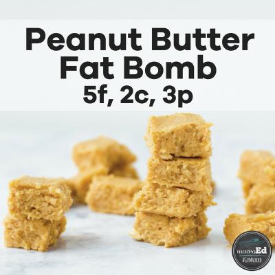 Peanut Butter Fudge Fat Bombs