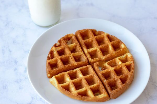 homemade waffles with added protein