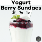Yogurt Berry Sundaes