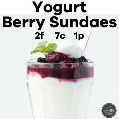 Yogurt Berry Sundaes